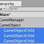 unity5 Hierarchy 子供の数制御