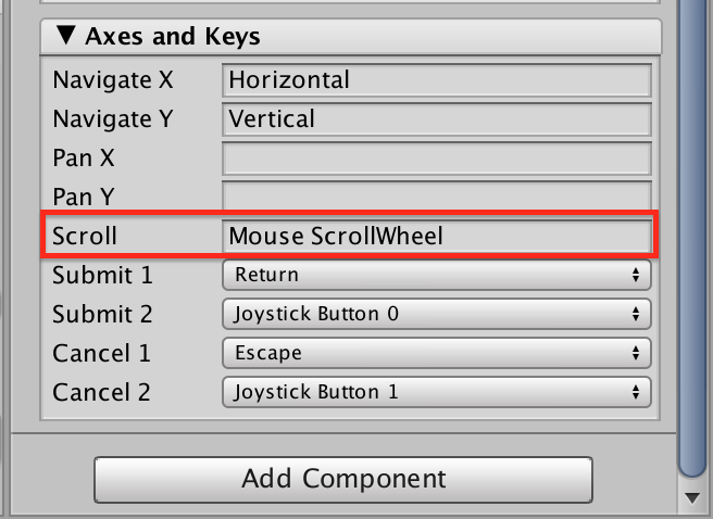 UnityのNGUIで「ArgumentException: Input Axis Mouse ScrollWheel is